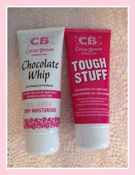 COCOA BROWN CHOCOLATE WHIP (OIL FREE MOISTURISER) AND TOUGH STUFF (EXFOLIATOR)